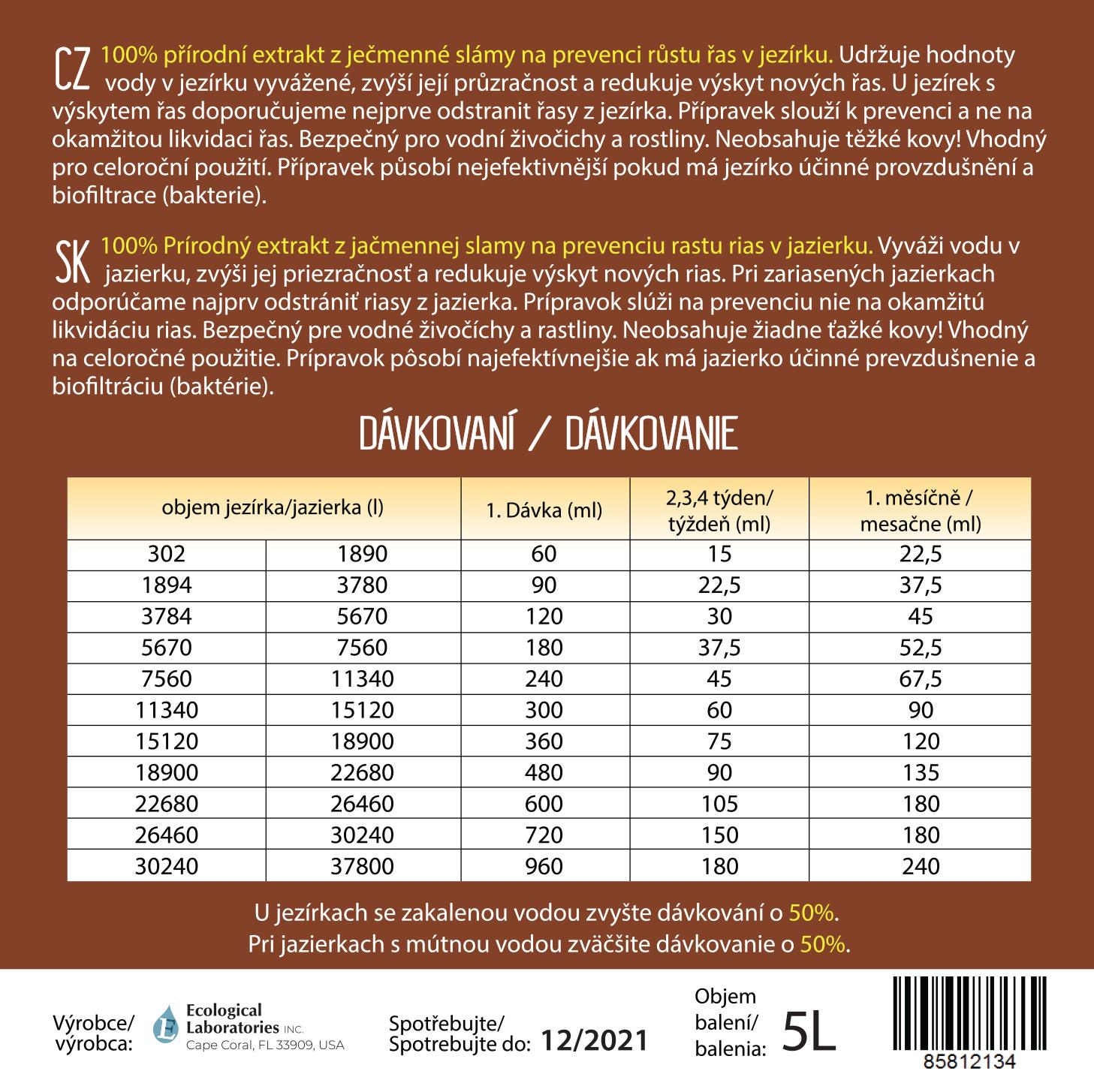 24013563b HP Bio extrakt z ječmenné slámy 5 L Barley Straw proti řasám ...